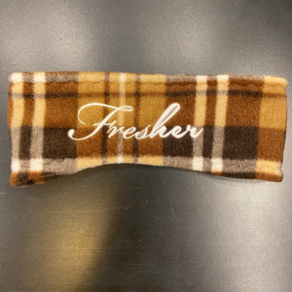 Fresher Cocoa Plaid Ear Warmer