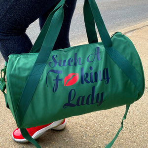 Such A Fucking Lady Getaway Bag- Red Lip