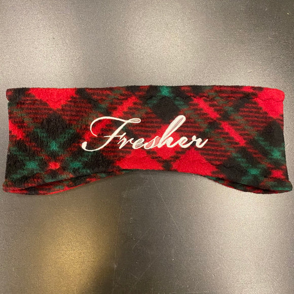 Fresher Midnight Plaid Ear Warmer