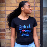 Such A Fucking Lady Tee - Royal Blue/Pink