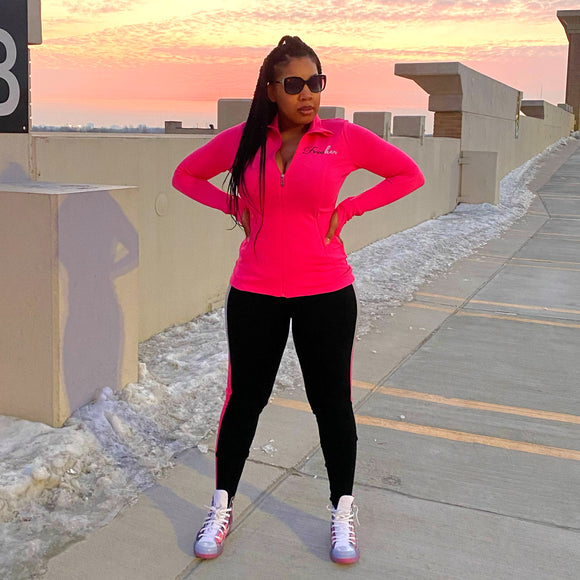 Fresher It Girl Jogger Set - Hot Pink