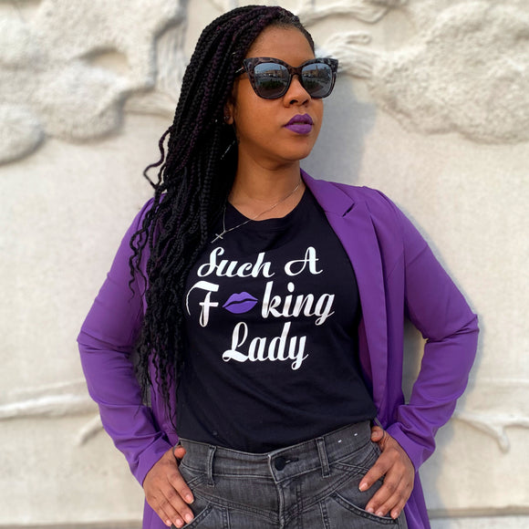 Such A Fucking Lady Tee - Purple Lip