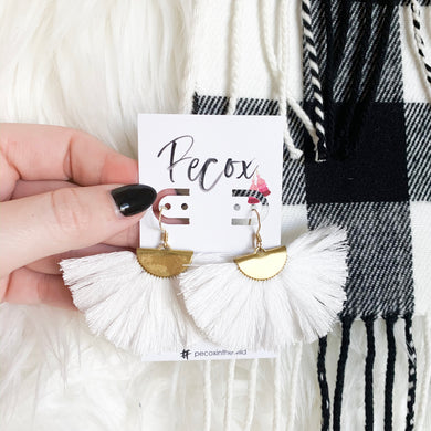 THE REAGAN WHITE tassel earrings