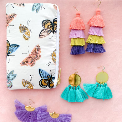 *new* Small Butterfly Zipper Bag