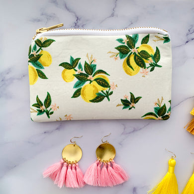 *new* Small Lemon Zipper Bag