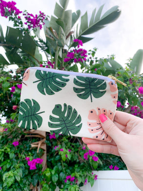 *new* Small Palm Zipper Bag