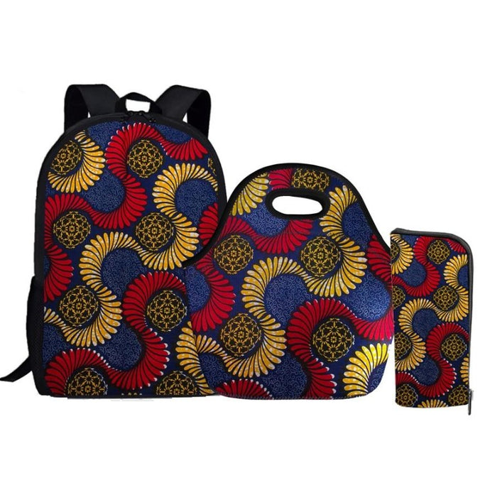 School Art Bag 3 Pcs/Set - Cirque Africa Merchandise