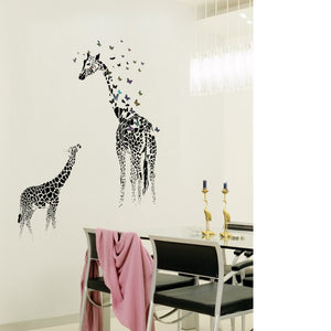 Giraffe Butterfly Wall Removable Sticker's - Cirque Africa Merchandise