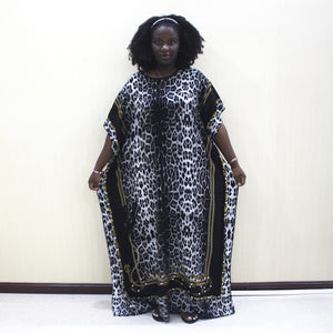 Cotton Leopard Print Women Dress - Cirque Africa Merchandise