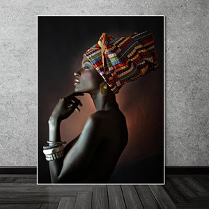 Beautiful African Women Oil Paintings - Cirque Africa Merchandise