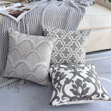 Load image into Gallery viewer, Embroided Grey Cushion Cover - Cirque Africa Merchandise