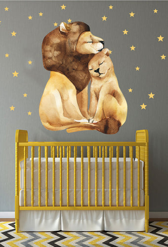 Lion Love wall sticker - Cirque Africa Merchandise