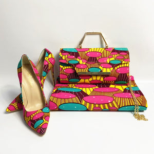 Women High Heel,Shoes,Handbag set - Cirque Africa Merchandise