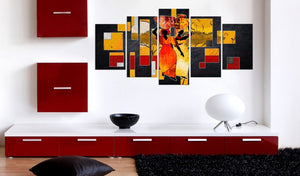Wall Art Abstract African Women painting - Cirque Africa Merchandise