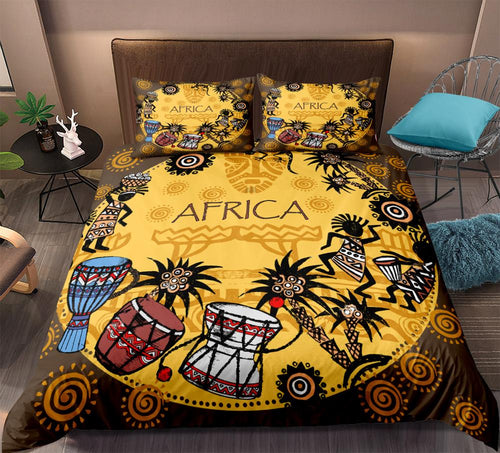 African Bedding Set Retro Style - Cirque Africa Merchandise