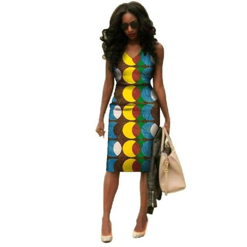 Wax Printed African short Dresses - Cirque Africa Merchandise