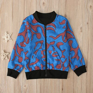 Girl Boys Autumn African Windproof Coat - Cirque Africa Merchandise