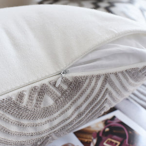 Embroided Grey Cushion Cover - Cirque Africa Merchandise