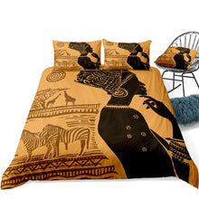 Load image into Gallery viewer, Duvet Cover Set Beautiful African Woman 2/3 Pieces Sunset Bedding Set - Cirque Africa Merchandise