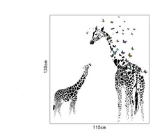 Load image into Gallery viewer, Giraffe Butterfly Wall Removable Sticker's - Cirque Africa Merchandise