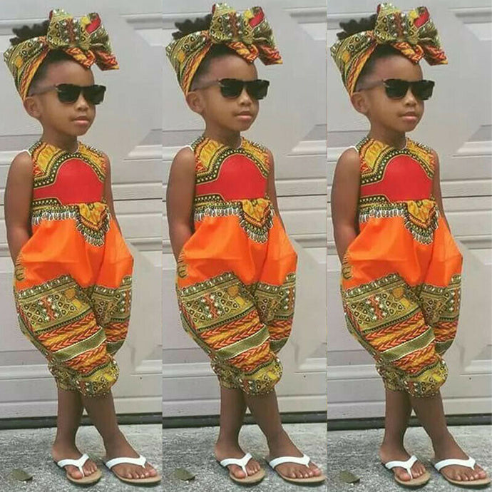 Girl Jumpsuit Set - Cirque Africa Merchandise