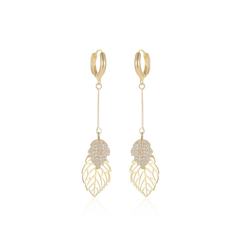 Nature Leaves Drop Earrings