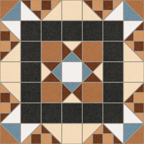 Floor tiles. Ceramic heritage look. Halton marron 12.2x12.2