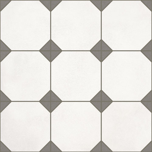Floor tiles. Ceramic heritage look. Carron blanco 12.2x12.2