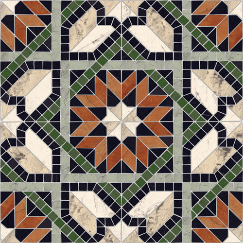 Porcelain tiles. Mosaics look. Cilena-pr multicolor 16.93x16.93