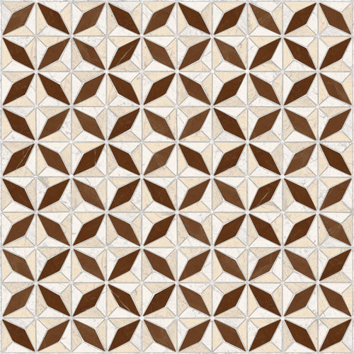 Porcelain tiles. Mosaics look. Medix-pr marron 16.93x16.93