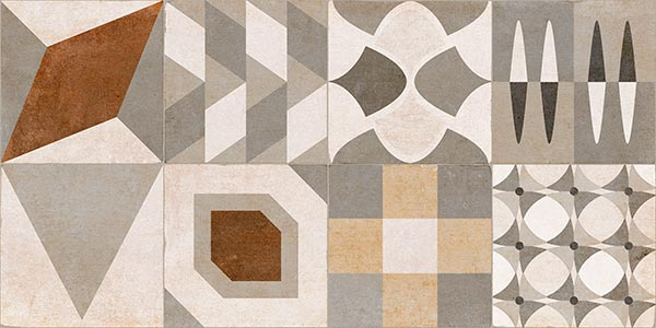 Porcelain tiles. Concrete look. Miami multicolor 11.81x23.62