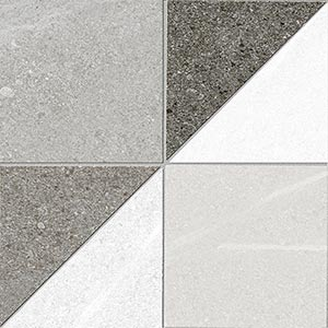 Porcelain tiles. Encaustic cement tiles look. Debilly-r gris 5.91x5.91