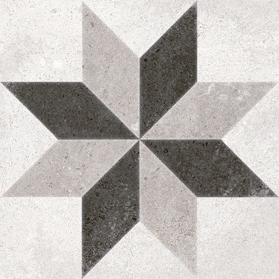 Porcelain tiles. Encaustic cement tiles look. Taito blanco 7.87x7.87