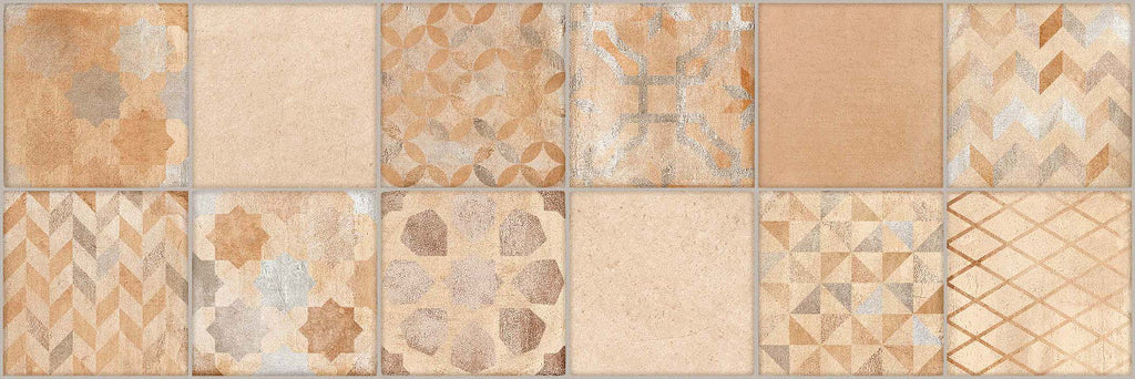 Wall tiles. Cotto look. Lynton multicolor 9.84x29.53