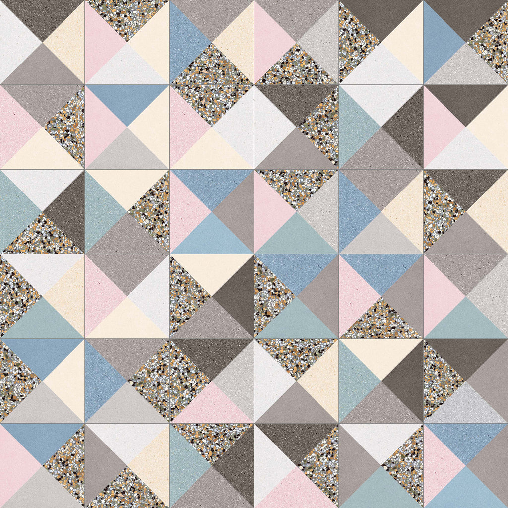Floor tiles. Terrazzo look. Cestio multicolor 7.87x7.87