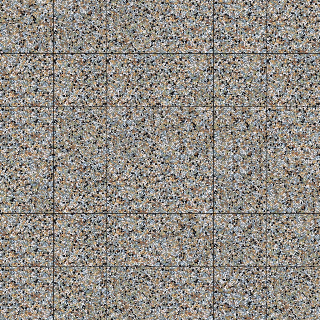 Floor tiles. Terrazzo look. Naevia multicolor 7.87x7.87