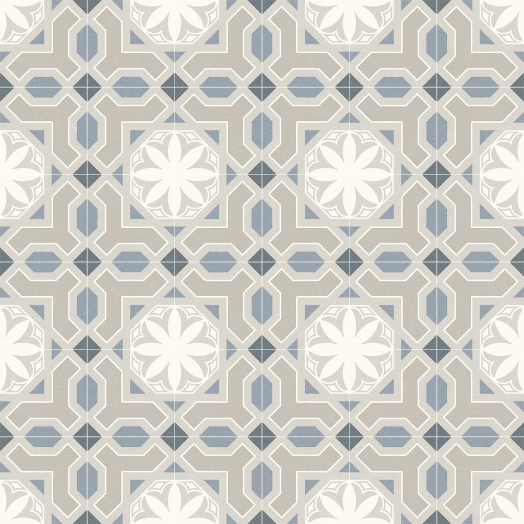 Porcelain tiles. Encaustic cement tiles look. Linden-r cielo 7.87x7.87