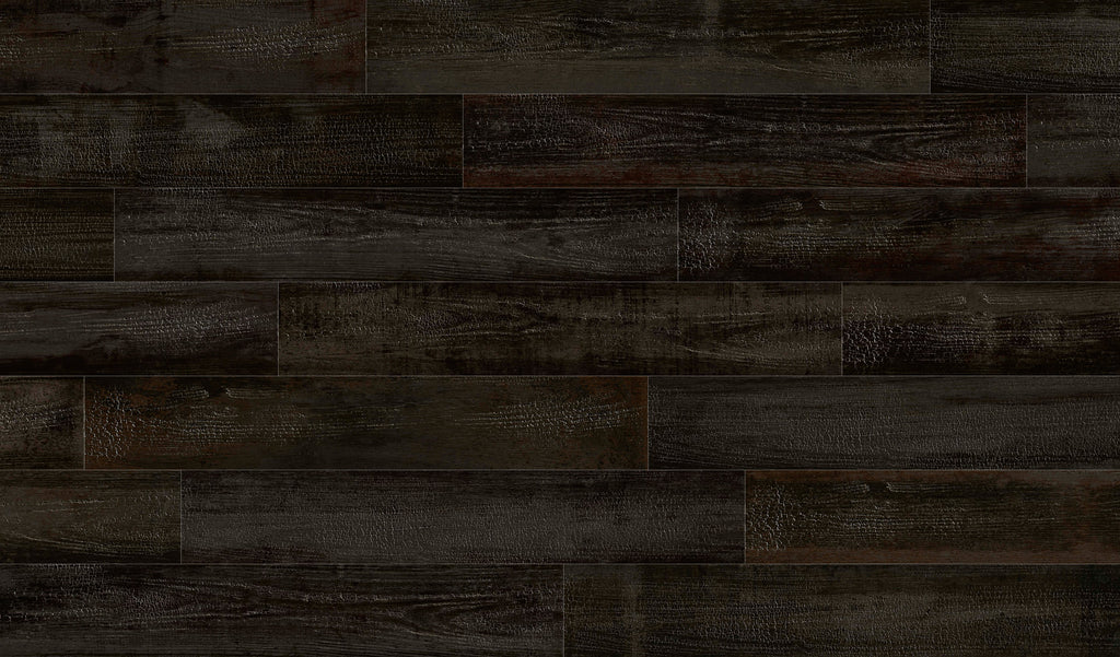 Porcelain tiles. Wood look. Okinawa-r carbon 7.48x46.85