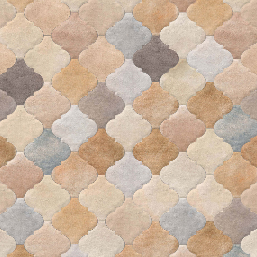Porcelain tiles. Cotto look. Provenzal cameley multicolor 7.87x7.87