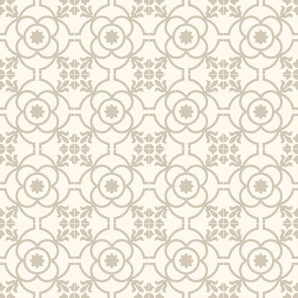 Porcelain tiles. Encaustic cement tiles look. Blomknopp bone 7.87x7.87