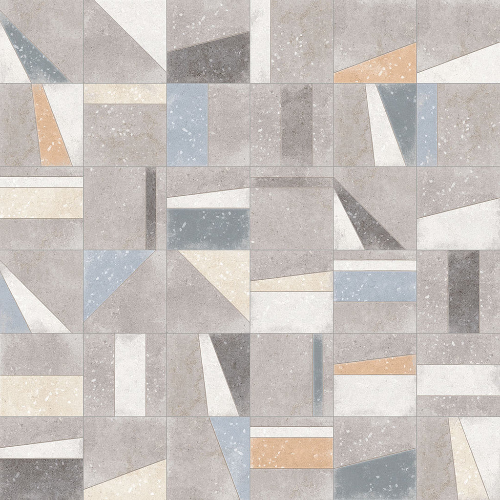 Porcelain tiles. Encaustic cement tiles look. Osaka multicolor 7.87x7.87