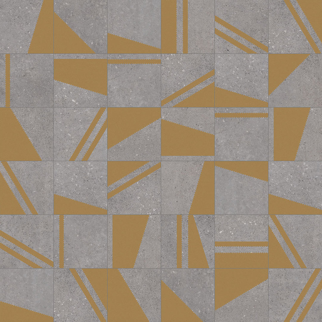 Porcelain tiles. Encaustic cement tiles look. Kokomo grafito oro 7.87x7.87