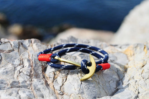 18K Gold Plated Anchor Navy Bracelet
