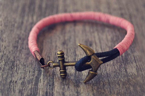 Pink Candy Leather Bracelet - beadsandsails