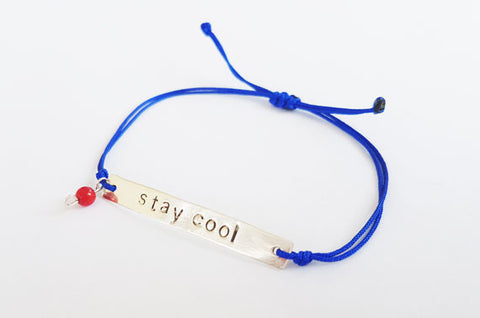 Stay Cool Sterling Silver Bracelet