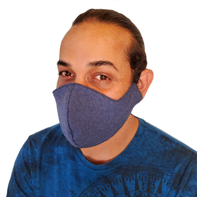 Solid Color Triple Layer Cotton Face Mask