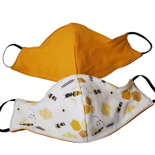 Bee Hive Triple Layer Face Mask