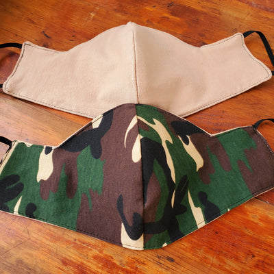 Camouflage Triple Layer Face Mask