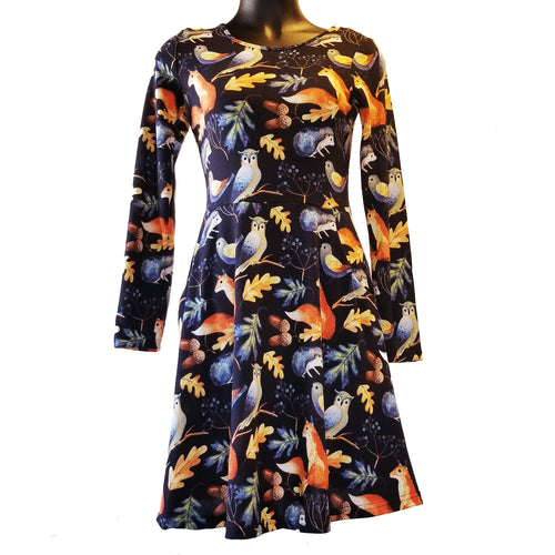 Forest Animals Sweater Dress by LA Soul