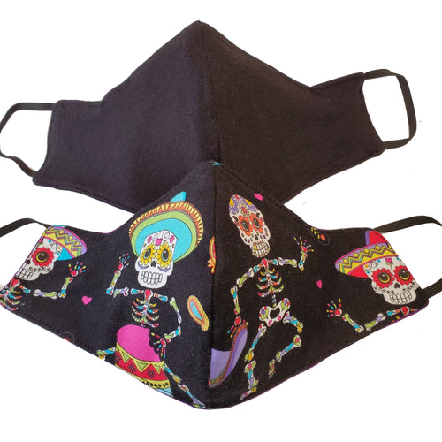 Skeleton Mariachi Three Layer Cotton Face Mask